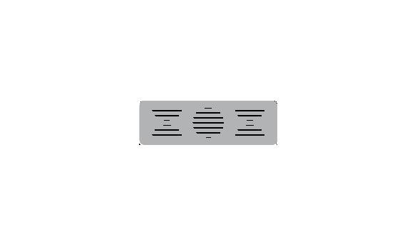 Corte recto con marco. Rejilla horizontal.